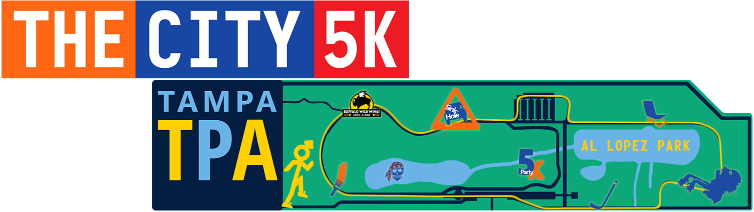 The City 5K Tampa Event Map